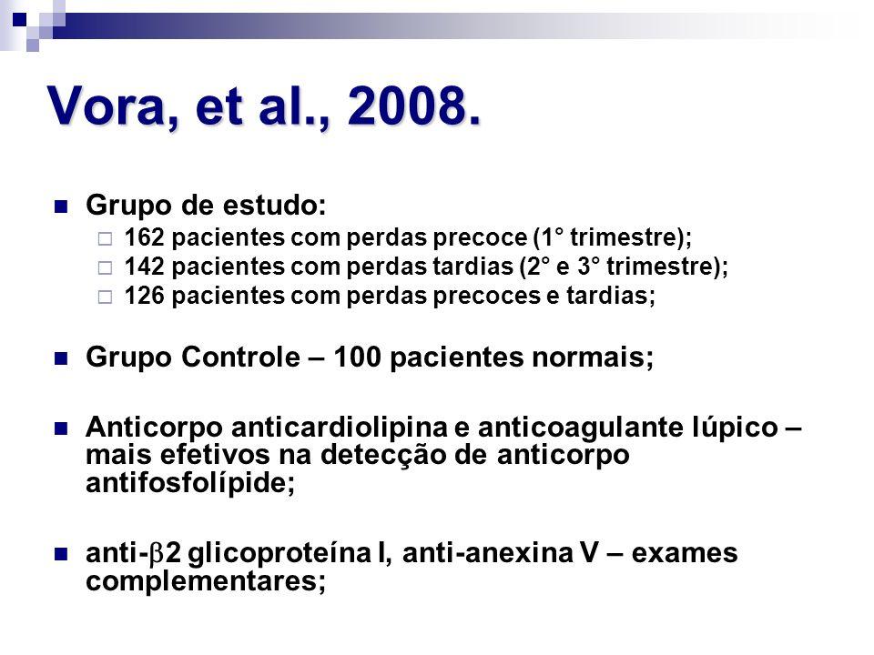 Vora, et al., 2008. Grupo de estudo: