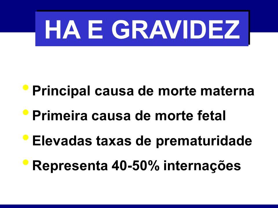 HA E GRAVIDEZ Principal causa de morte materna