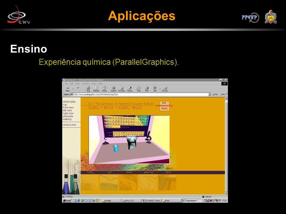Aplicações Ensino Experiência química (ParallelGraphics).