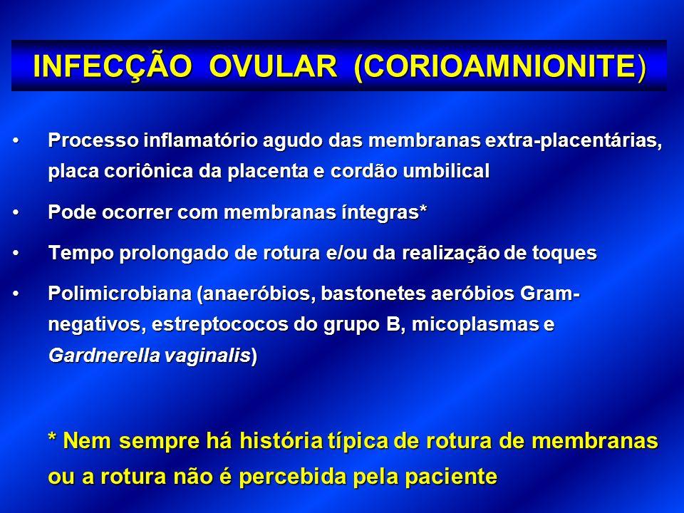 INFECÇÃO OVULAR (CORIOAMNIONITE)