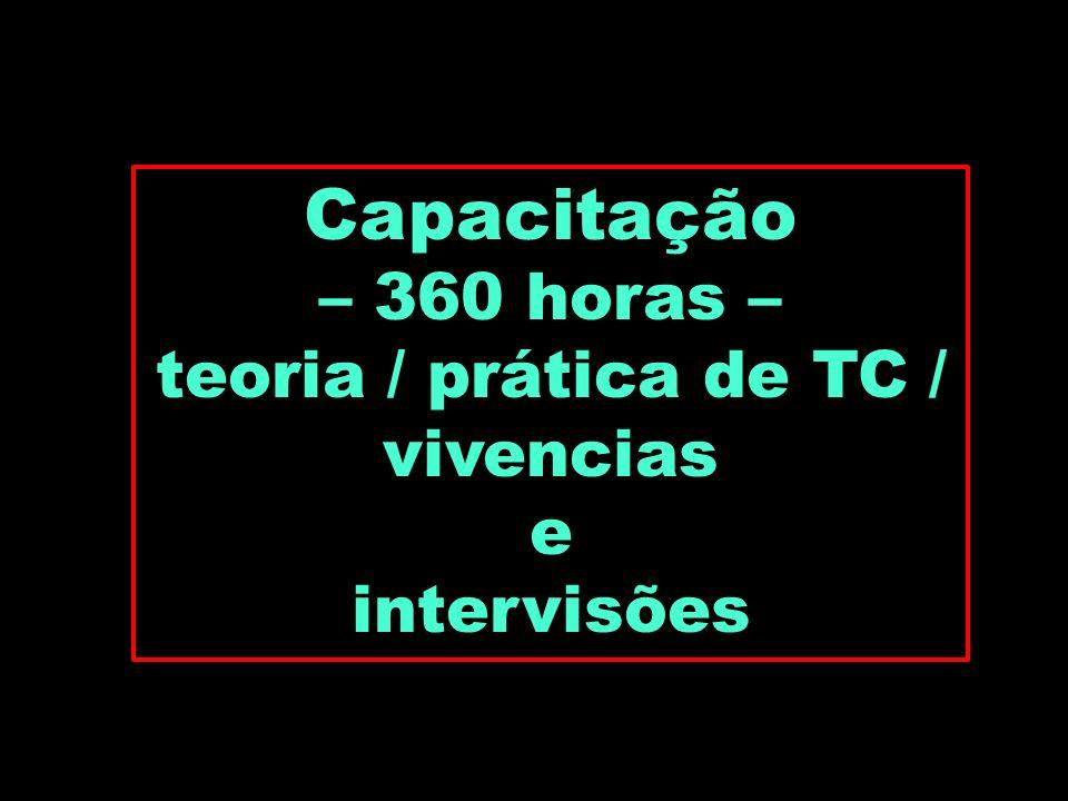 teoria / prática de TC / vivencias