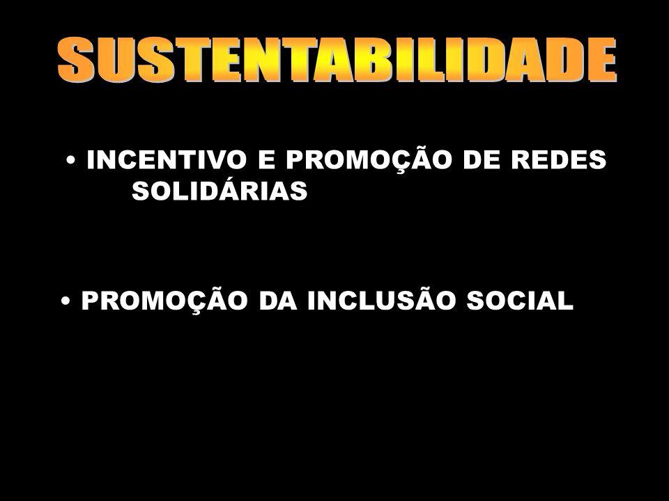 SUSTENTABILIDADE INCENTIVO E PROMOÇÃO DE REDES SOLIDÁRIAS