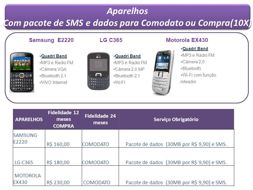 Aparelhos Com pacote de SMS e dados para Comodato ou Compra(10X)