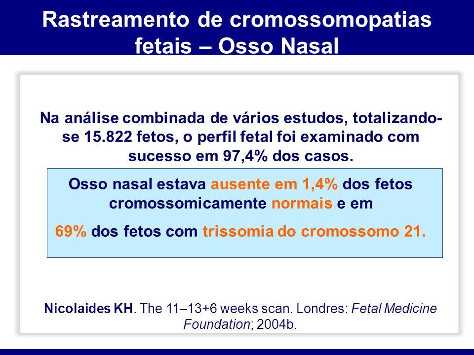 Rastreamento de cromossomopatias fetais – Osso Nasal