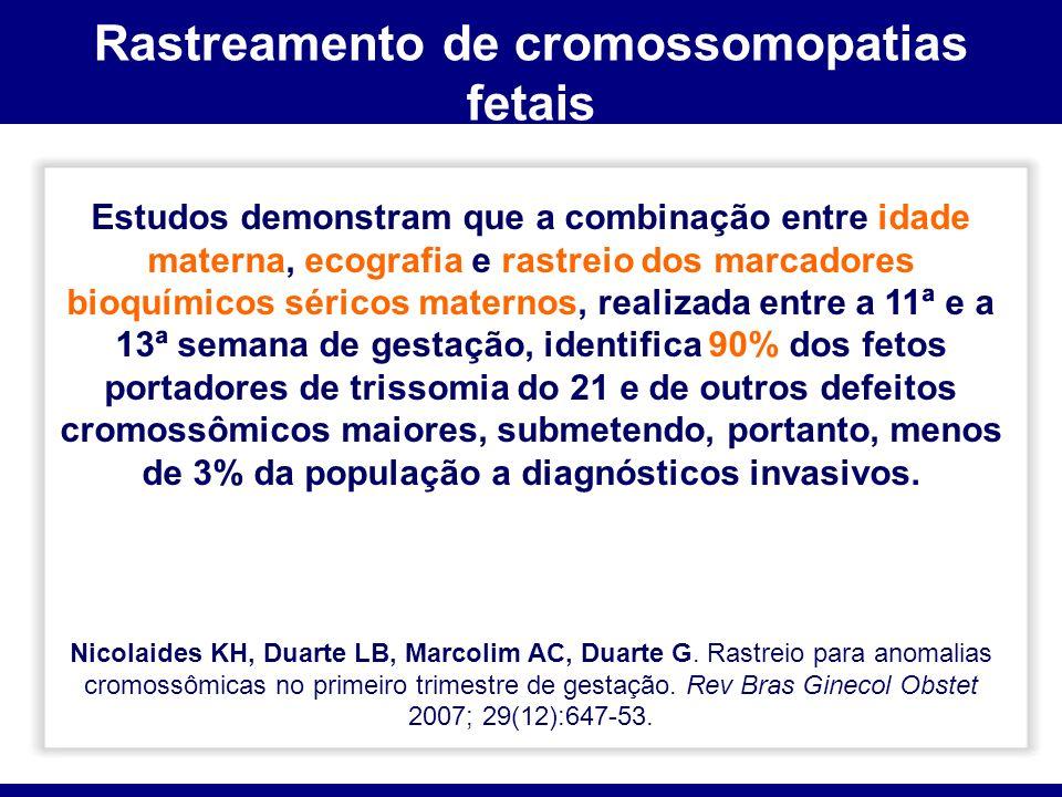Rastreamento de cromossomopatias fetais