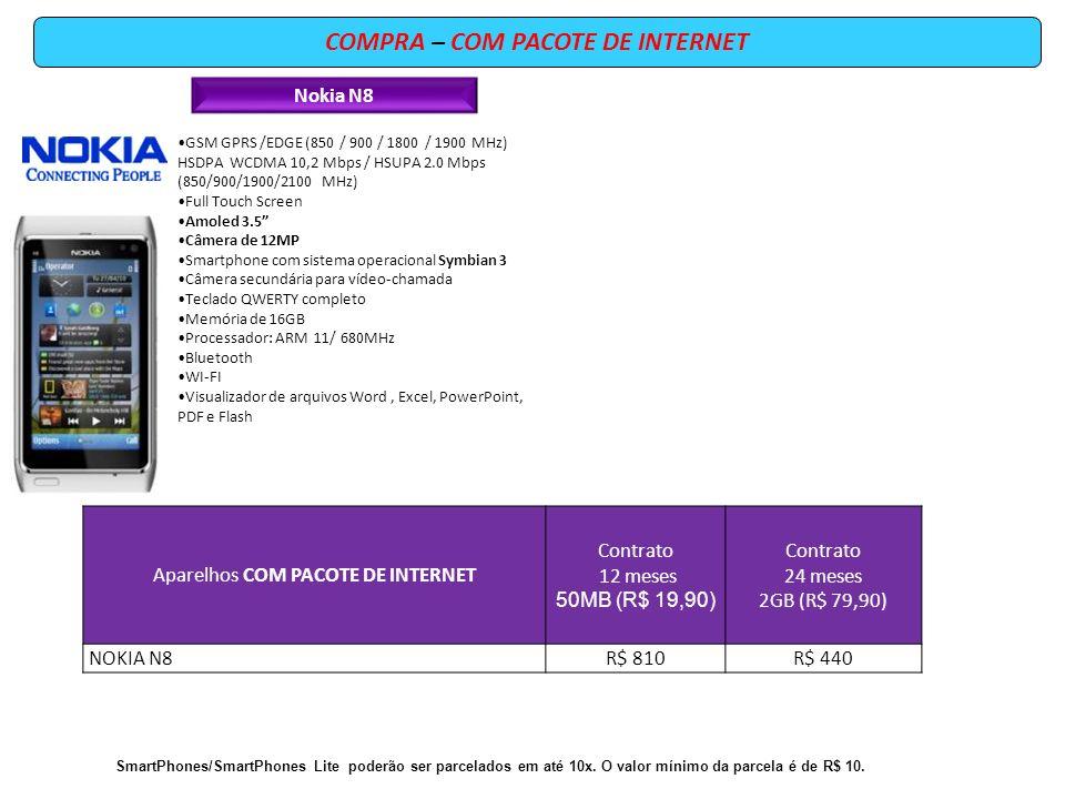 COMPRA – COM PACOTE DE INTERNET