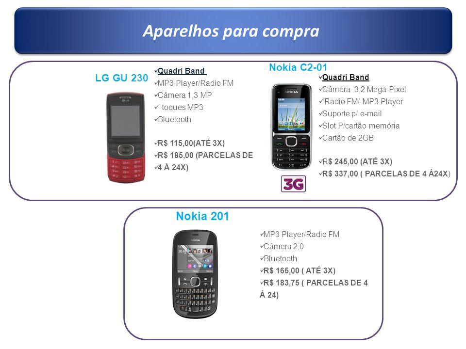 Aparelhos para compra Nokia 201 Nokia C2-01 LG GU 230 Quadri Band