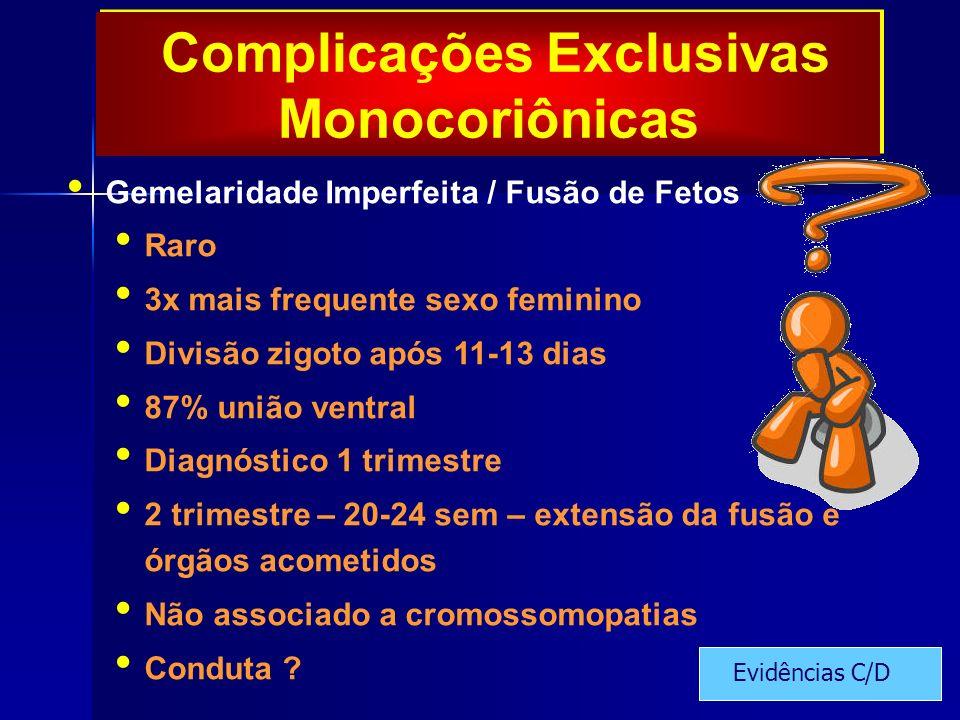 Complicações Exclusivas Monocoriônicas