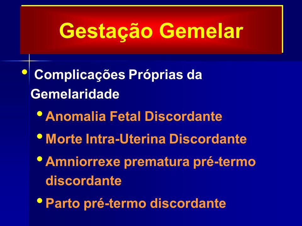 Gestação Gemelar Complicações Próprias da Gemelaridade