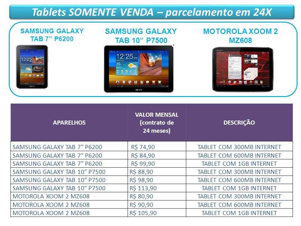 Tablets SOMENTE VENDA – parcelamento em 24X