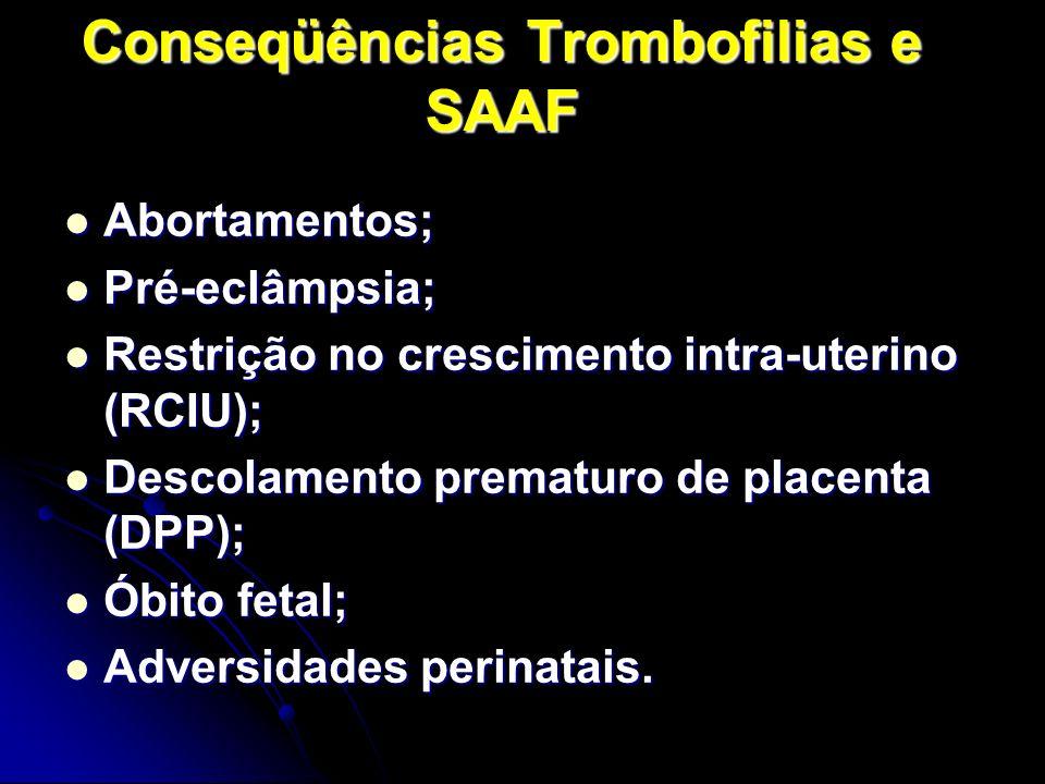 Conseqüências Trombofilias e SAAF
