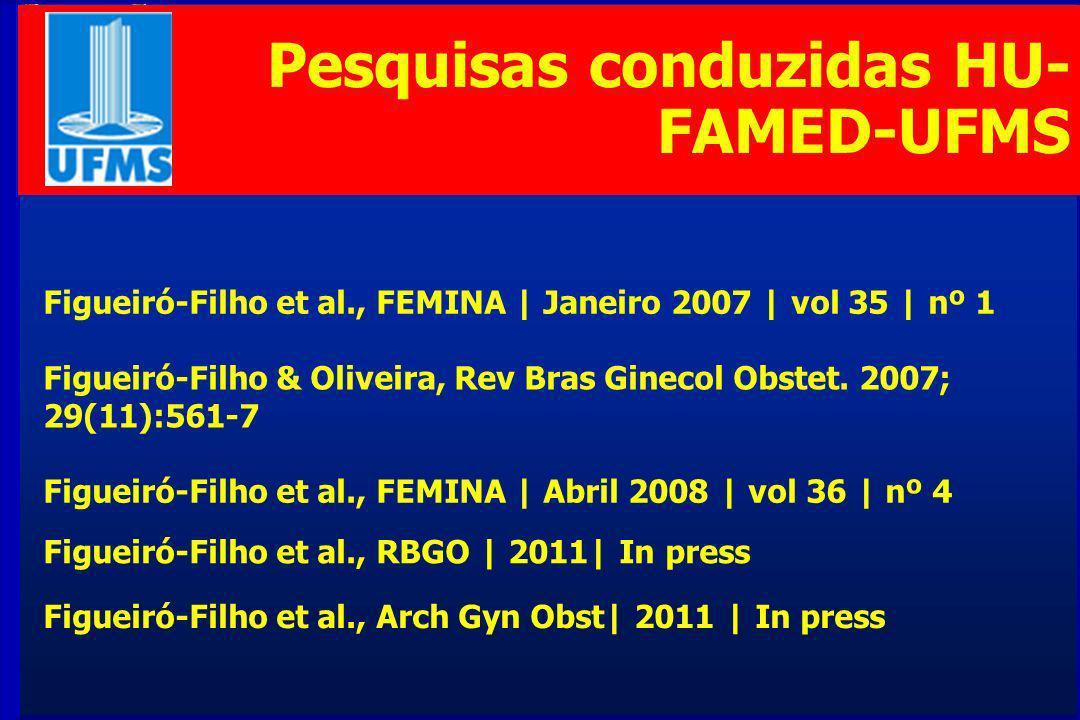 Pesquisas conduzidas HU-FAMED-UFMS