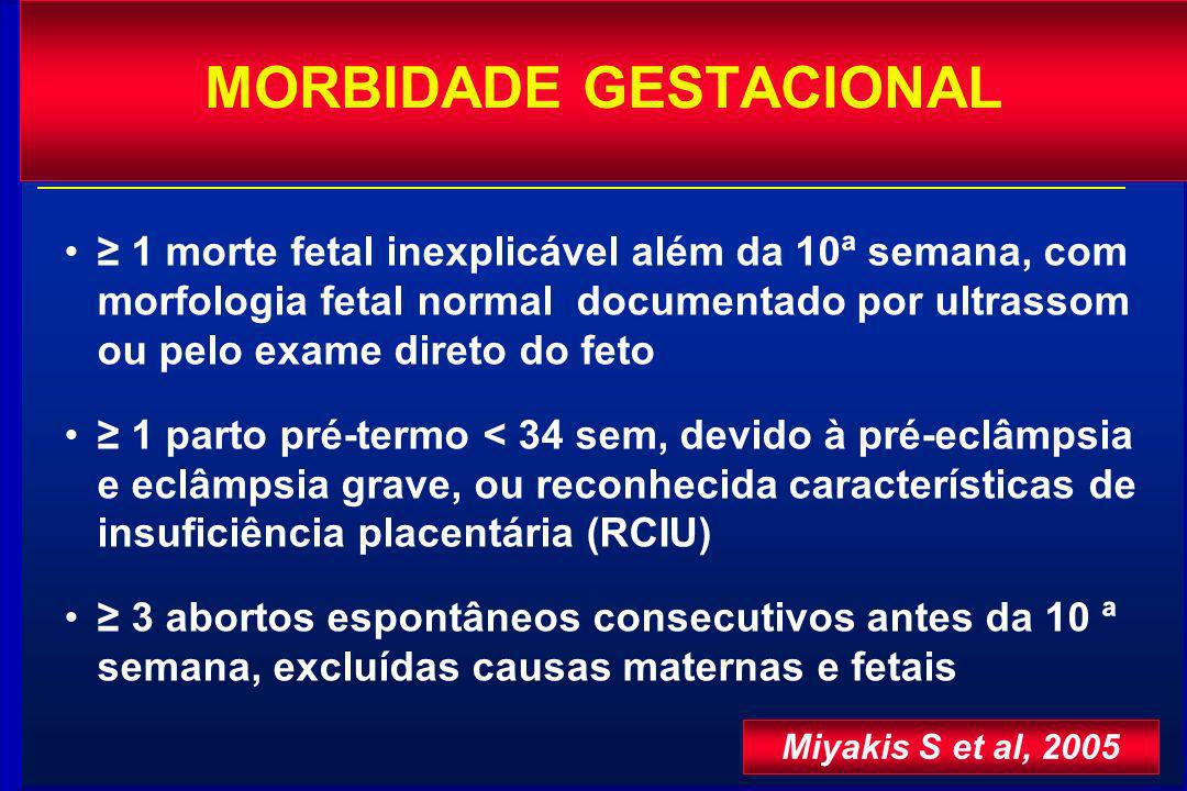 MORBIDADE GESTACIONAL