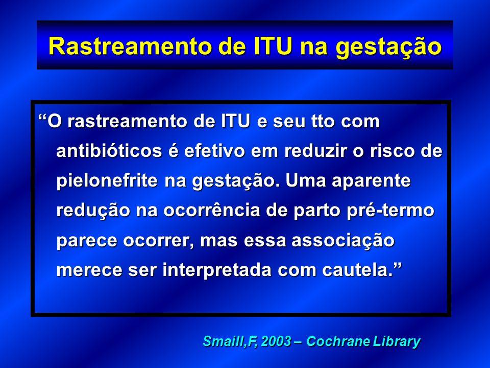 Rastreamento de ITU na gestação
