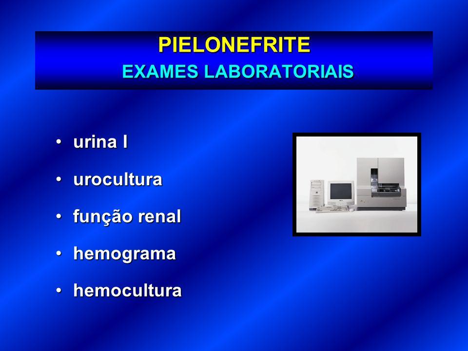 PIELONEFRITE EXAMES LABORATORIAIS