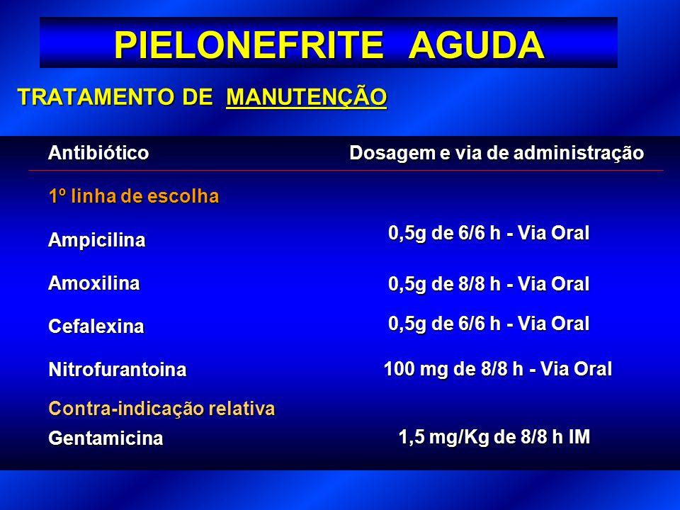 PIELONEFRITE AGUDA TRATAMENTO DE MANUTENÇÃO Antibiótico