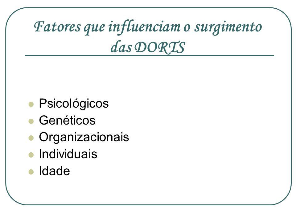 Fatores que influenciam o surgimento das DORTS