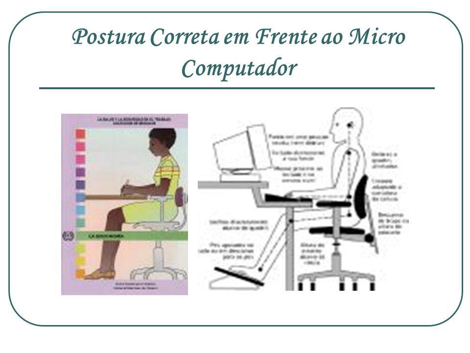 Postura Correta em Frente ao Micro Computador
