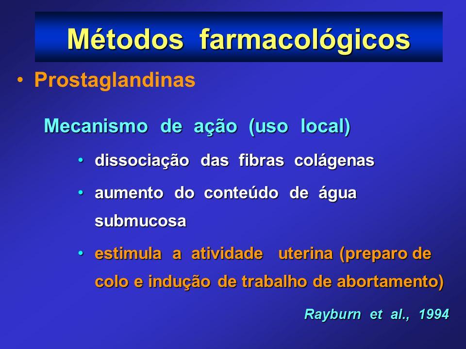 Métodos farmacológicos