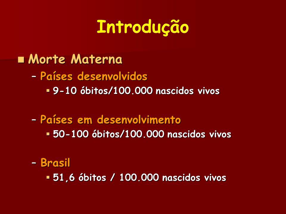 Introdução Morte Materna Países desenvolvidos