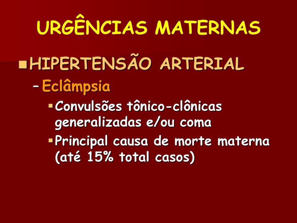 URGÊNCIAS MATERNAS HIPERTENSÃO ARTERIAL Eclâmpsia
