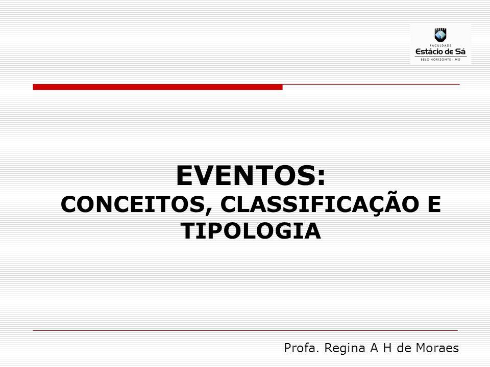 EVENTOS: CONCEITOS, CLASSIFICAÇÃO E TIPOLOGIA