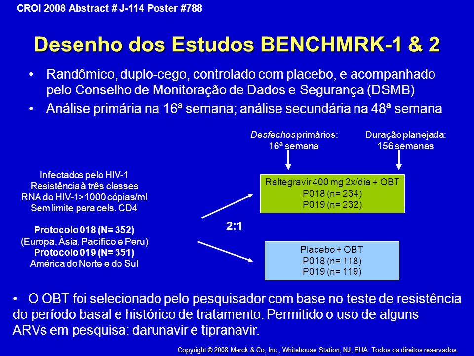 Desenho dos Estudos BENCHMRK-1 & 2