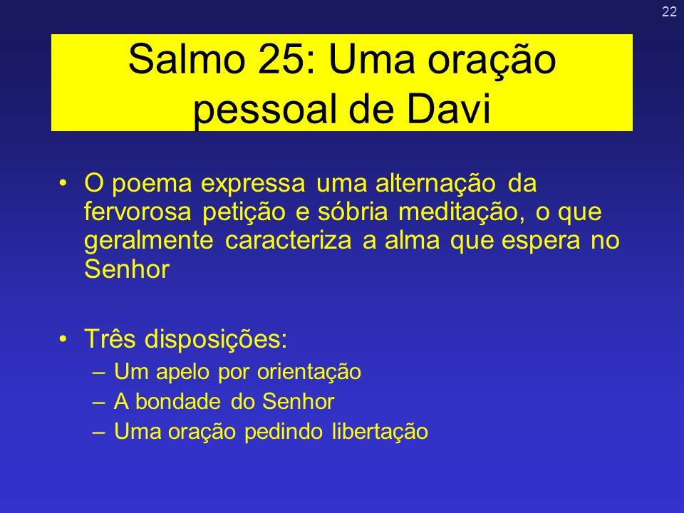 Salmo 25: Uma oração pessoal de Davi