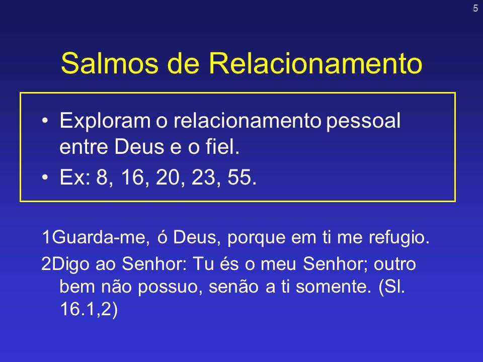 Salmos de Relacionamento
