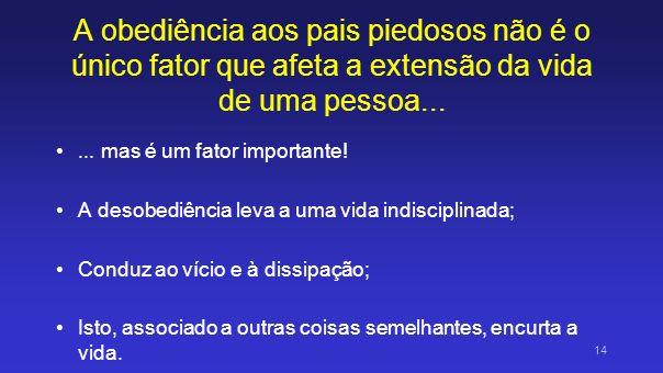 A obediência aos pais piedosos não é o único fator que afeta a extensão da vida de uma pessoa...