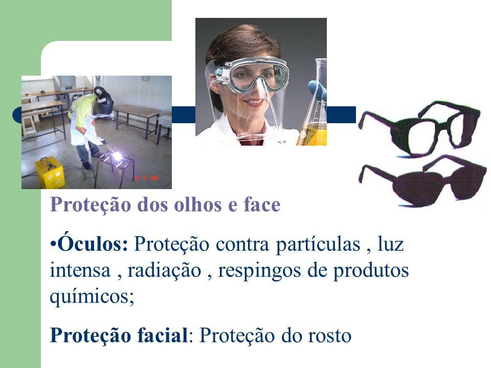 Proteção dos olhos e face