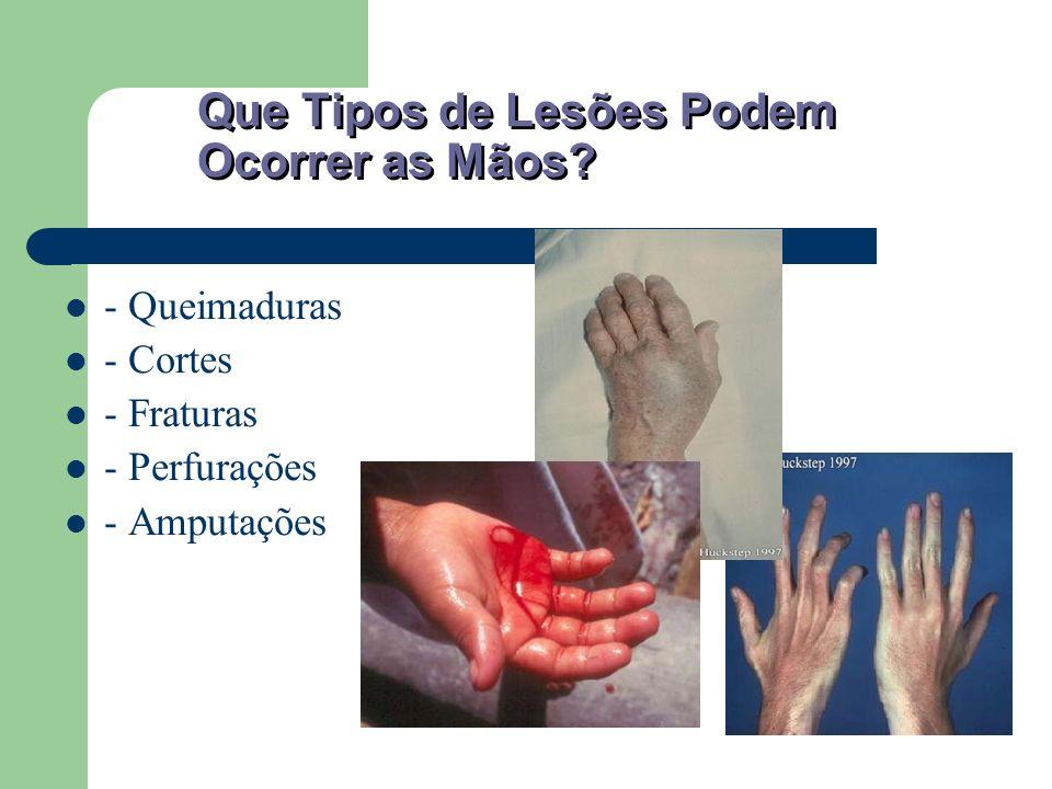 Que Tipos de Lesões Podem Ocorrer as Mãos