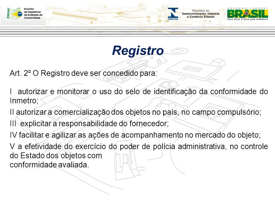 Registro Art. 2º O Registro deve ser concedido para: