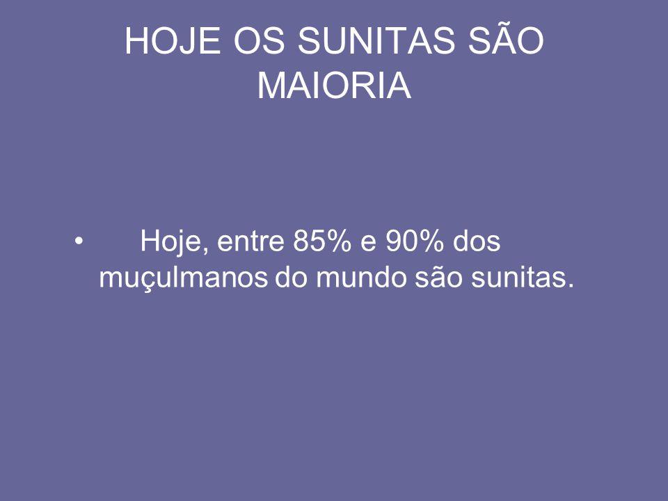 HOJE OS SUNITAS SÃO MAIORIA