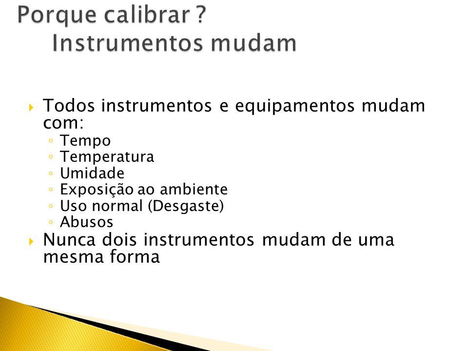 Porque calibrar Instrumentos mudam
