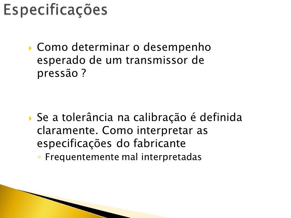 Especificações Como determinar o desempenho esperado de um transmissor de pressão