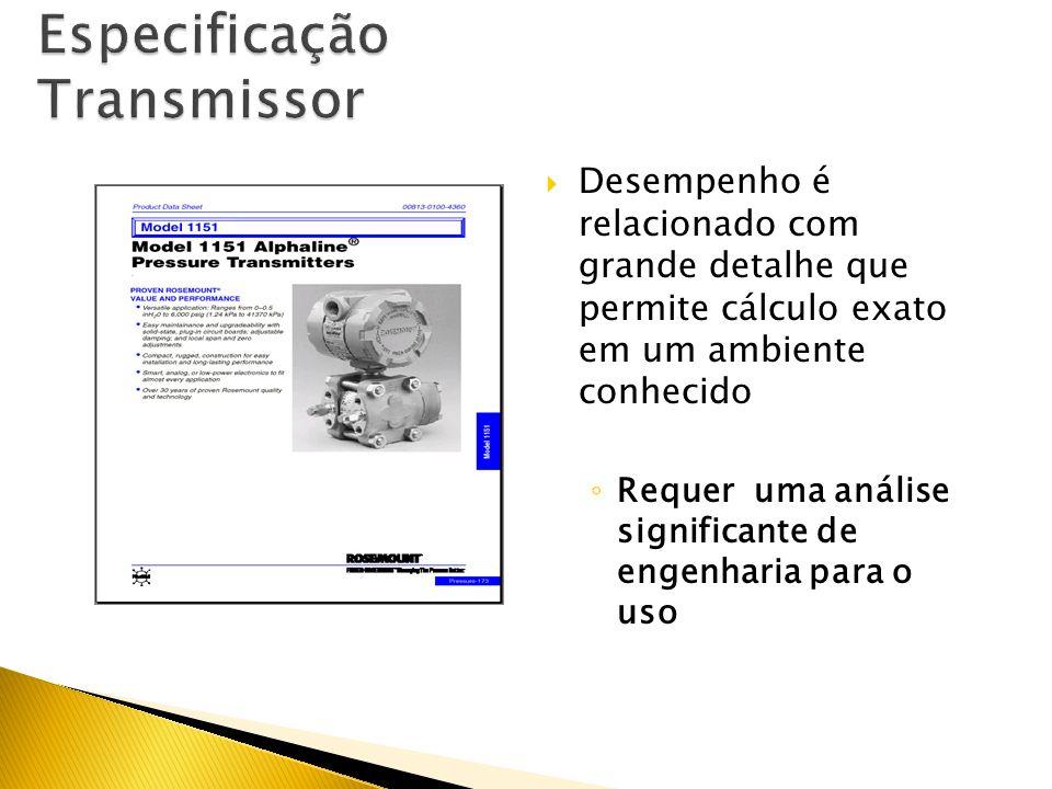Especificação Transmissor