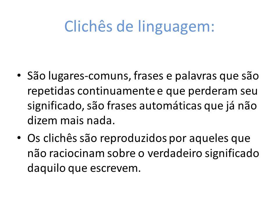 Clichês de linguagem: