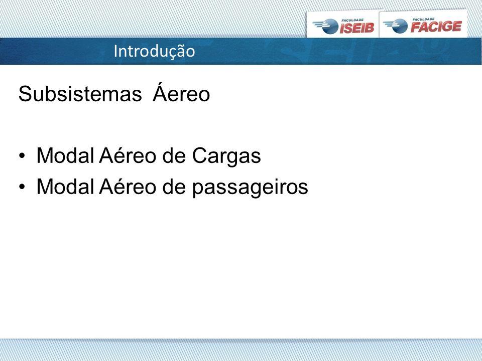 Modal Aéreo de passageiros