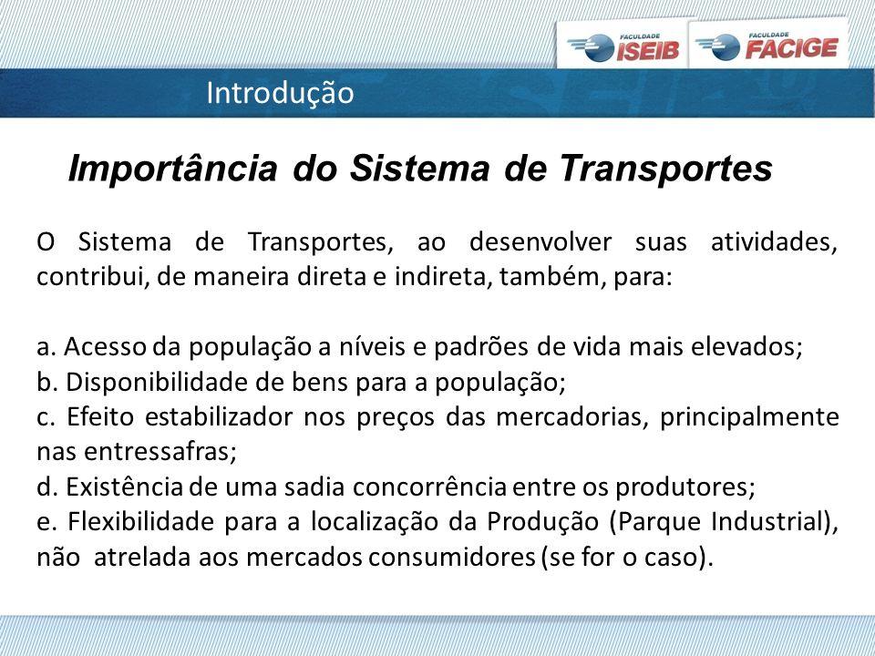 Importância do Sistema de Transportes
