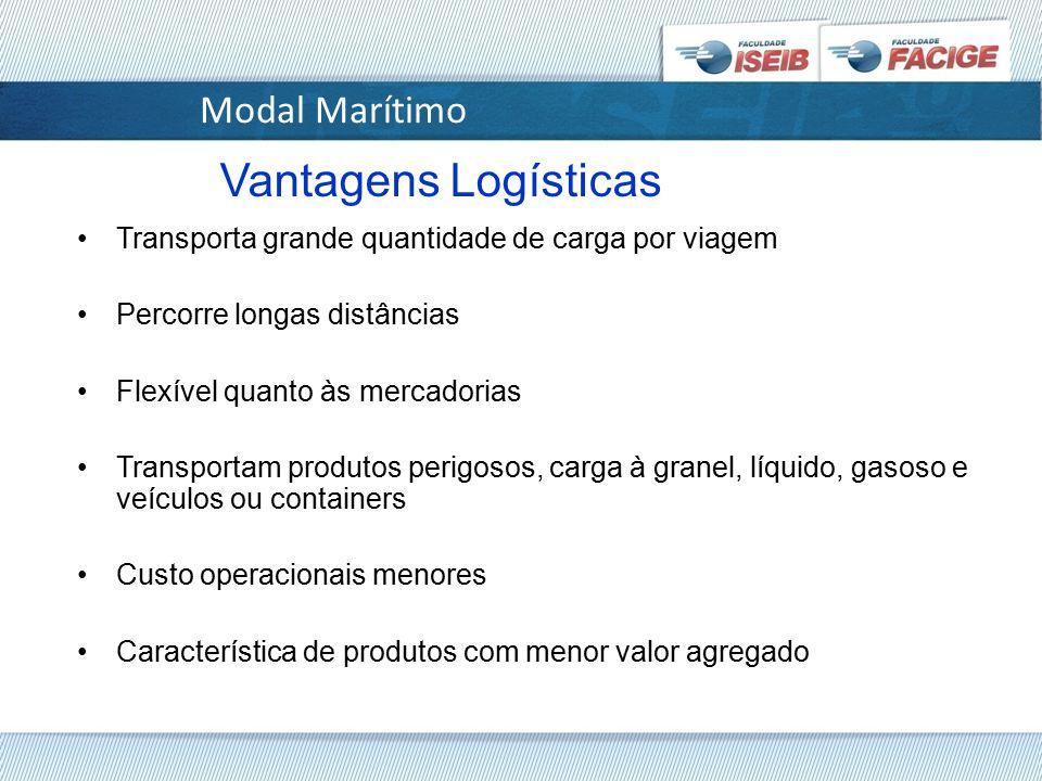 Vantagens Logísticas Modal Marítimo