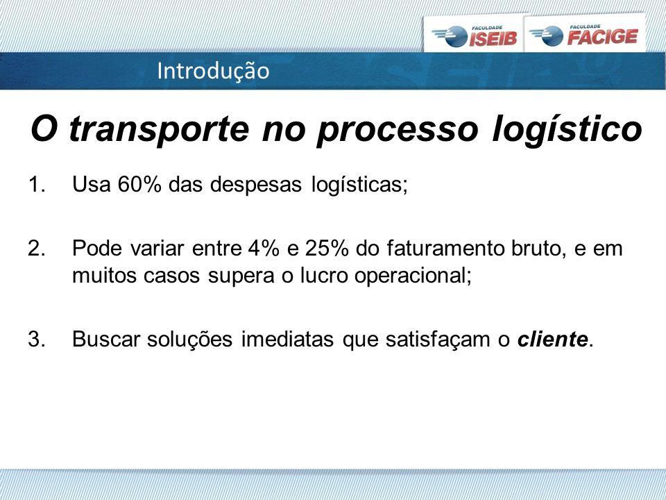 O transporte no processo logístico