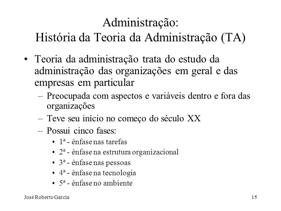 Administração: História da Teoria da Administração (TA)