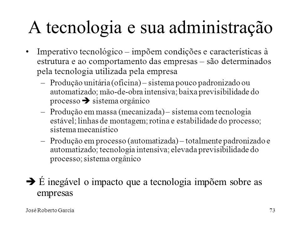 A tecnologia e sua administração