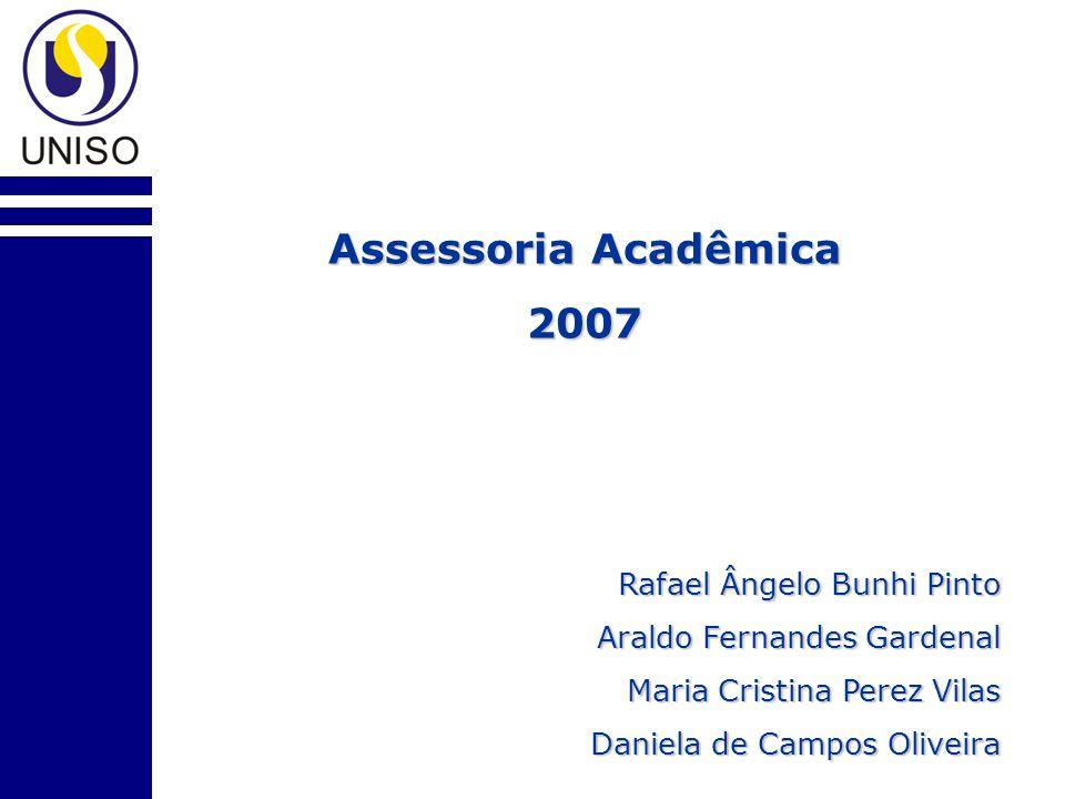 Assessoria Acadêmica 2007 Rafael Ângelo Bunhi Pinto