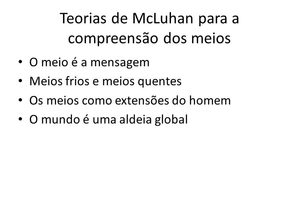 Teorias de McLuhan para a compreensão dos meios