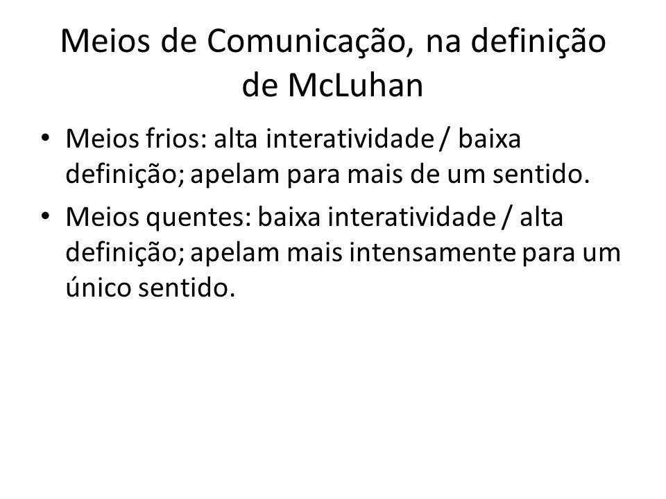 Meios de Comunicação, na definição de McLuhan