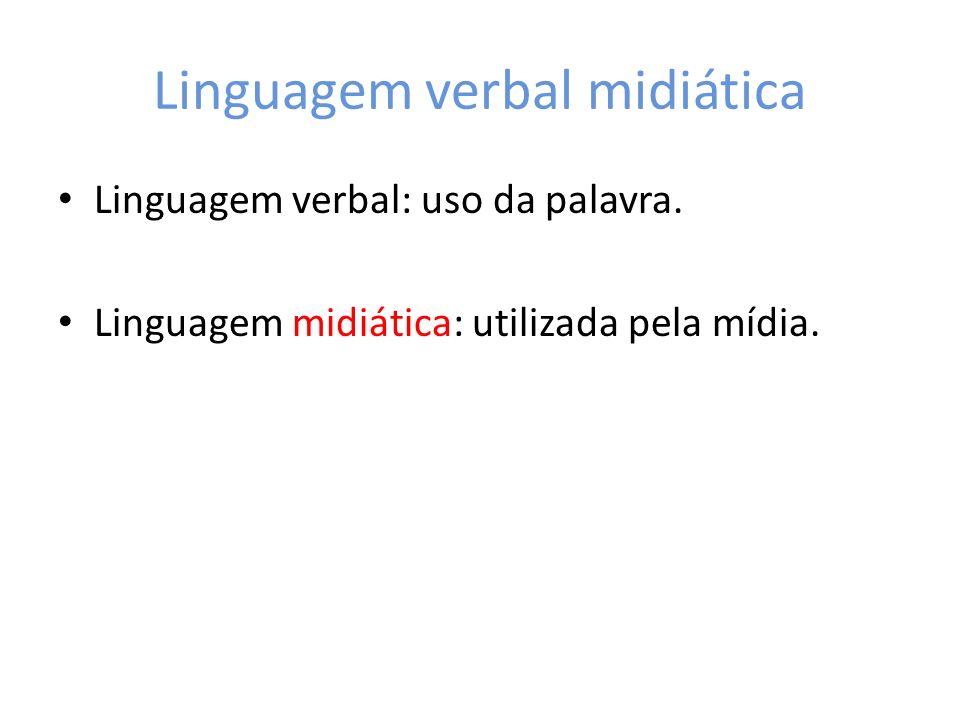 Linguagem verbal midiática