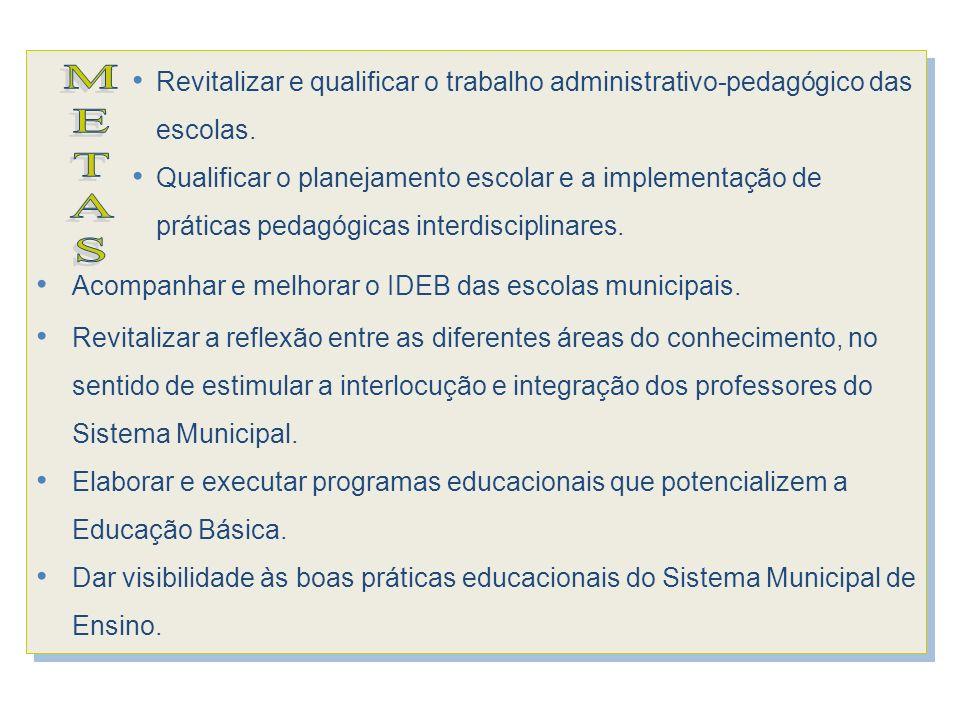 Revitalizar e qualificar o trabalho administrativo-pedagógico das escolas.