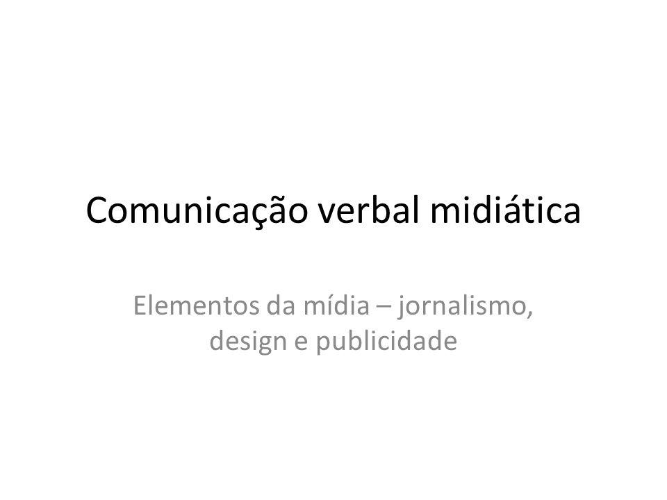 Comunicação verbal midiática